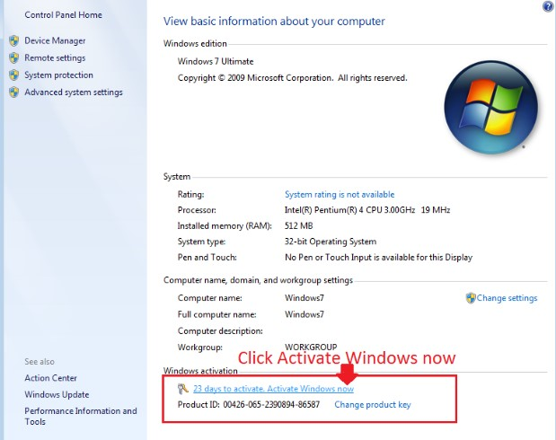 Windows 7 Home Premium Product Key 32/64 Bit Free